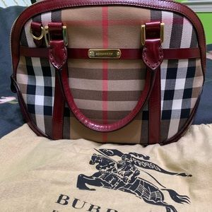 Bridle House Check Small Orchard Bowling Bag